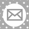 grey white polka dot email social media icon