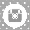grey white polka dot instagram social media icon