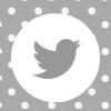 grey white polka dot twitter  social media icon